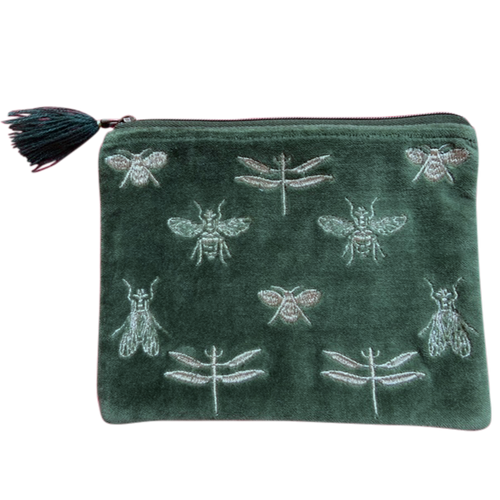 Velvet Pouch Bees and Dragonflies