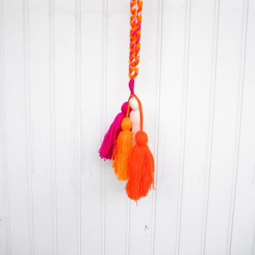Orange/Multi Tassel