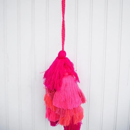 Pink/Multi Tassel