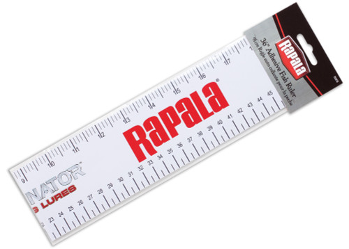 "Outdoor ready adhesive ruler mounts anywhere on your boat for quick, accurate measuring. Include both inches and centimeter increments.  36"" Adhesive Ruler Sticks to any hard surface Inch and Centimeter Measurements"