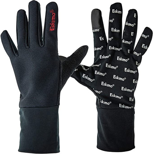 The Hook set fitted glove is perfect to wear as a liner glove, or as a thin outer glove when you need something to cut the wind and coldest still want sensitivity to detect a bite. The touch screen compatible forefinger and thumb, along with a Silicone gripping palm allow you to do what you want, without ever having to take the glove off.