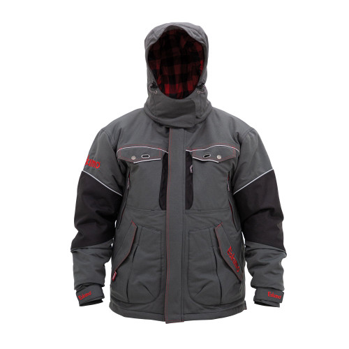 Men's Legend Jacket $269.99Size Guide  315330023811  The Legend Series is the flagship of the Eskimo suit lineup. Designed with the latest in material technology, this suit may be the warmest, driest, most comfortable suit you'll ever wear. Its windproof/ waterproof 10k/10k materials keep you dry, 100 grams of Thinsulate™ insulation keep you warm, and the exclusive Eskimo Uplyft™ breathable flotation assistance helps keep you safe. Combine this with a premium Poly-Oxford outer, and the Legend gives you a unique combination of mobility and functionality. One look at this suit and you'll see why it's called the Legend.