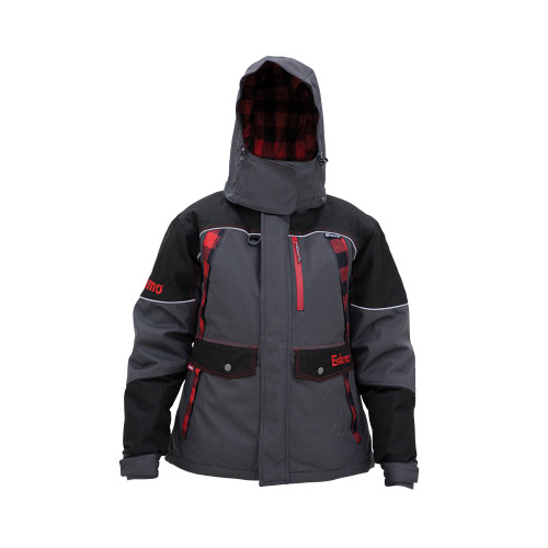 Women's Keeper Jacket $219.99Size Guide  315300023312  The purpose built Keeper series features the exclusive Eskimo Uplyft™ Breathable Flotation Assist system and a windproof/ waterproof 600 denier outer shell. The 80 grams of Thinsulate™ insulation will keep you warm in the cold and wind, yet allow a full range thanks to design details including strategically placed gussets and elastic stretch panels, and premium materials. This isn't just any old ice suit, try one on today to experience the difference for yourself.