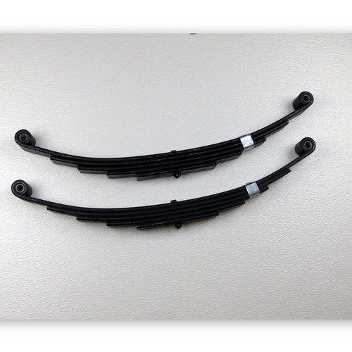These Yetti replacement springs are direct from the manufacturer and feature the important banding clip to retain the leaves and prevent tire damage.  4-Leaf springs are rated at 2000 lbs max load and 5-Leaf are rated at 3000 lbs.