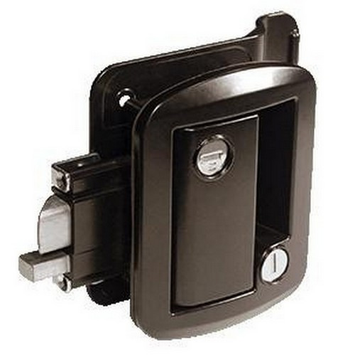 This is the same RV lockset found in many popular RVs and fish houses.  Comes with jamb striker and 2 keys.  Additional keys available as an option to be selected above.