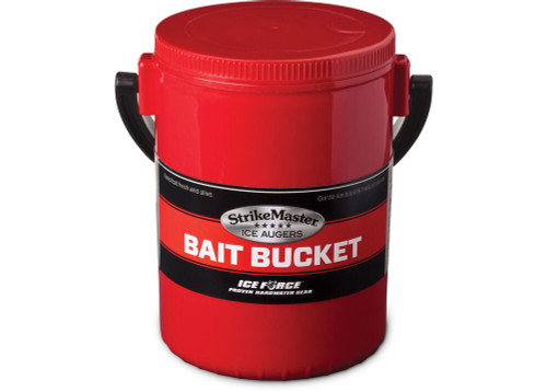 """The perfect solution for fast and efficient fishing this water-tight, insulated, refrigerator-safe bucket has rubber gasket in lid for splash-proof, air tight seal - removable for long-term bait storage. Removable handle. 5"""" diameter by 7"""" deep.  Water-Tight, Insulated, Refrigerator-Safe Bucket Rubber Gasket in Lid for Splash-Proof, Air Tight Seal (removable for long-term bait storage) Removable Handle 5"""" Diameter by 7"""" Deep"""