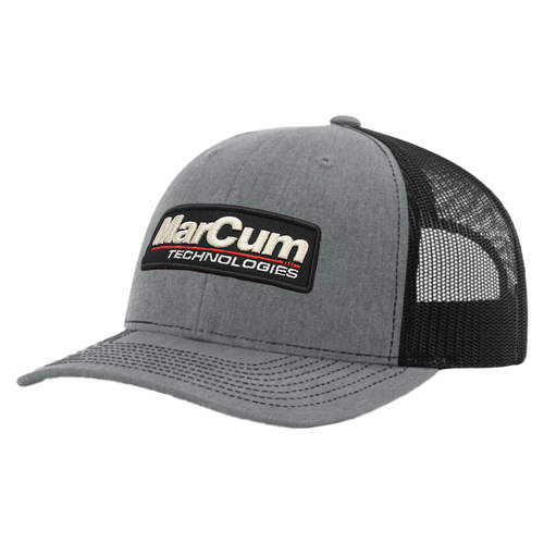 The MarCum Mesh-Back Raised Letter Cap pairs the quality of MarCum with arguably the most respected ball-cap on the market, the Richardson 112. As a best-selling favorite, this classic looking, adjustable, snap-back cap combines fit with the finish of a raised letter MarCum badge. This custom look and comfort ensure you the same quality you've come to expect from the #1 name in ice fishing electronics.  Features  SHAPE: Mid-Pro  FABRIC: Cotton-Poly/Nylon Mesh  VISOR: Precurved  SWEATBAND: Cotton  MATERIAL: 47% Cotton, 53% Polyester  CONSTRUCTION: Woven/Knitted  MSRP - $24.99