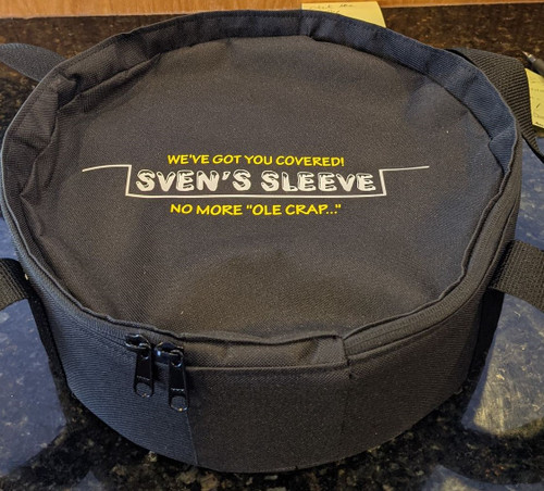 Sven's Sack (Cover Storage) $24.99  Sven's Sleeve Storage Sack will tightly and securely hold up to 16 covers. No more covers sliding around when not in use or in the off season. The design is compact, as space is a premium. The case is durable, high quality canvas with reinforced insert sewn into the sides. A top notch zipper and handles that make for carrying a breeze. These are meant to only hold your covers, not the sleeves, since the sleeves stack together we were after a small compact storage solution for covers. Made in the USA!
