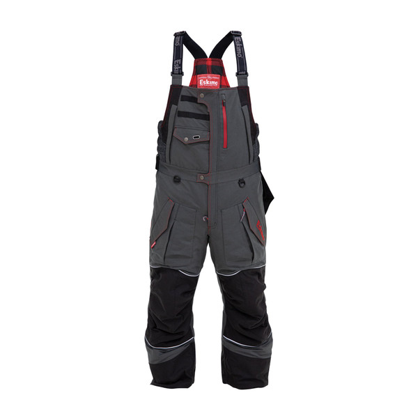 Men's Legend Bibs $269.99Size Guide  315340023211  The Legend Series is the flagship of the Eskimo suit lineup. Designed with the latest in material technology, this suit may be the warmest, driest, most comfortable suit you'll ever wear. Its windproof/ waterproof 10k/10k materials keep you dry, 100 grams of Thinsulate™ insulation keep you warm, and the exclusive Eskimo Uplyft™ breathable flotation assistance helps keep you safe. Combine this with a premium Poly-Oxford outer, and the Legend gives you a unique combination of mobility and functionality. One look at this suit and you'll see why it's called the Legend.