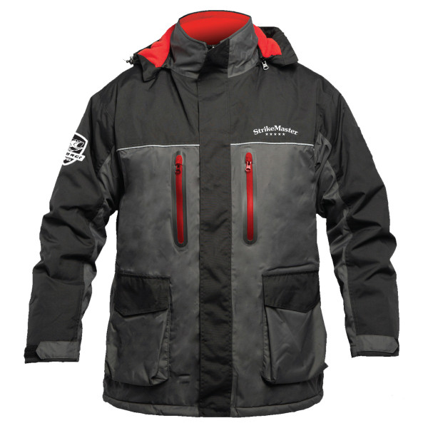 StrikeMaster ® SOS Flotation Technology (Stay On Surface) - Floats for 2 Hours When Worn as a Pair Zip-to-Hip Side Zippers Magnetic Flap on Side Zippers Chest Fleece Lined Hand Warming Pockets Magnetic Flap on Main Zipper Adjustable Hem on Cuff Premium YKK Zippers Multiple Layers of EPF Knee Padding D-Rings on Cargo Pocket 100% Nylon Oxford Fabric