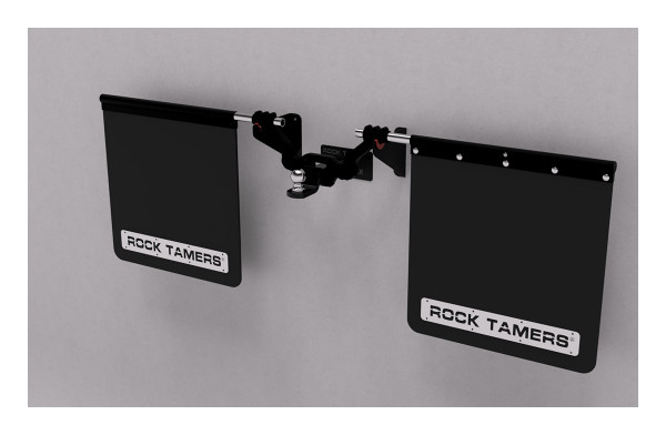 Looking for a great way to store your Rock Tamers when you're done towing?  The RT410 Wall Hanger is your answer!  Two wall mounted arms cradle your Rock Tamers and keep the system up and out of the way.  Includes 2 cushioned wall mounted arms to hold the system and 1 kick plate (double-sided tape backed) for resting the hitch Simple 2 piece design screws together with the included screws to give you a professional, functional and finished look   Mounts to standard 16 inch on center wall studs using the four (4) included  1/4 inch x 1.5 inch stainless lag bolts Max holding weight capacity of 70 lbs.  Designed to support the Rock Tamers System while still mounted to the draw bar (hitch) if desired Wall storage reduces mudflap curling by allowing the flaps to rest in their natural straight up and down position Easy to install by following included instructions and diagrams