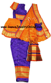 Bharatanatyam or Kuchipudi costume stitched from Art silk material