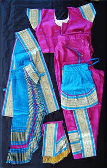 Kuchipudi dance costume Readymade Violet and blue