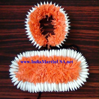 Plastic Hair Flower set for Bharathanatyam or Kuchipudi ORG65