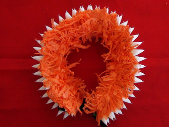 Plastic Flower Ring for Bharatanatyam dance OR23P