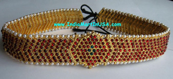 Oddiyanam Imitation Temple Jewellery Flex Belt 1228