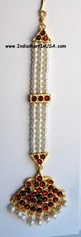 Tika Imitation Pearl Temple Jewelry Nettichutti