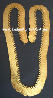 Kaasu Malai long necklace with about 150 big Golden coins
