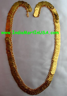 Kaasu Malai with 100 Small Golden coins