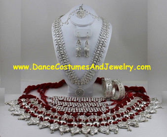 Odissi dance jewelry set