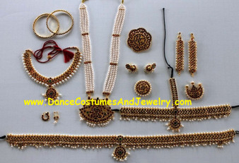 Bharatanatyam Temple Jewelry Dance Set FXL82
