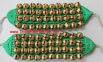 Ankle Bell 4 Line Green Cloth Ghungroo