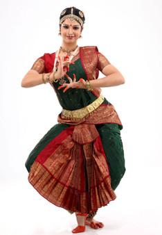 Kuchipudi or Bharatanatyam dress stitched from Apoorva silk saree