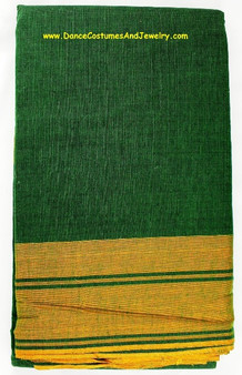 Bharatanatyam or Kuchipudi Dance Practice Saree Green