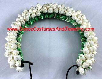 Hair Flower for Bharatanatyam dance White round