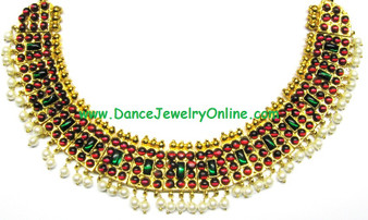 Temple jewellery poothali necklace