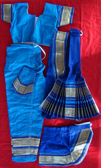 Bharatanatyam dance costume Pant style Readymade Blue and Blue