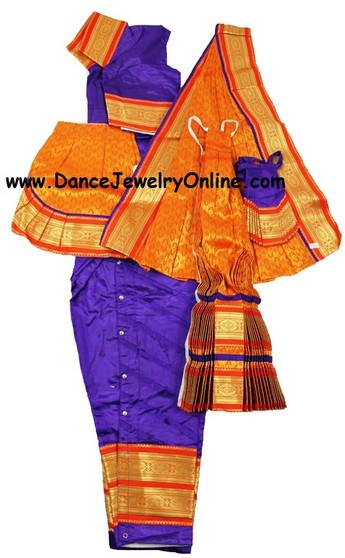 Bharatanatyam or Kuchipudi costume stitched from Art silk material