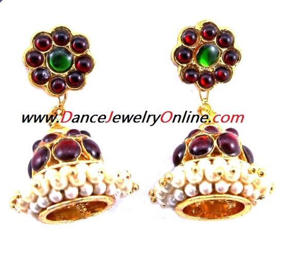 EarRing Imitation Temple Jewelry 2Line Jimikki