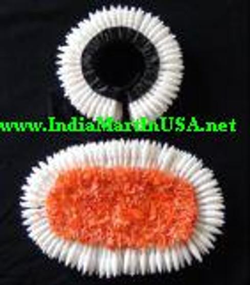 Plastic Hair Flower set for Bharathanatyam or Kuchipudi BLK70