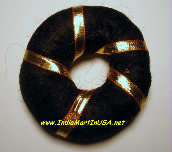 Soft hair ring with Golden ribbon