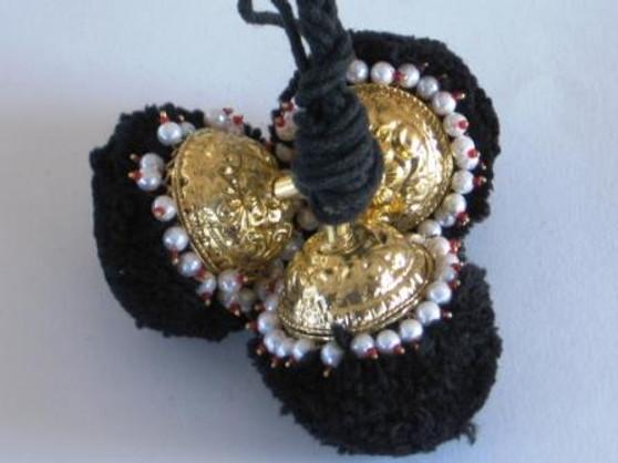 Round Kunjalam with white beads