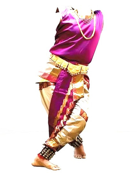 Male dance costume for Indian Classical dance
