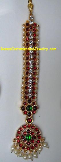 Imitation Temple Jewelry Tika with white stones