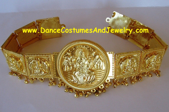 Dance Jewelry Golden Round Lakshmi Belt