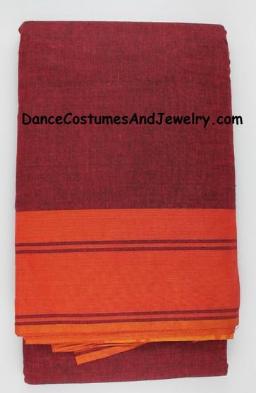 Bharatanatyam or Kuchipudi Dance Practice Saree Maroon