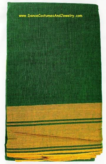 Bharatanatyam or Kuchipudi Dance Practice Saree Green