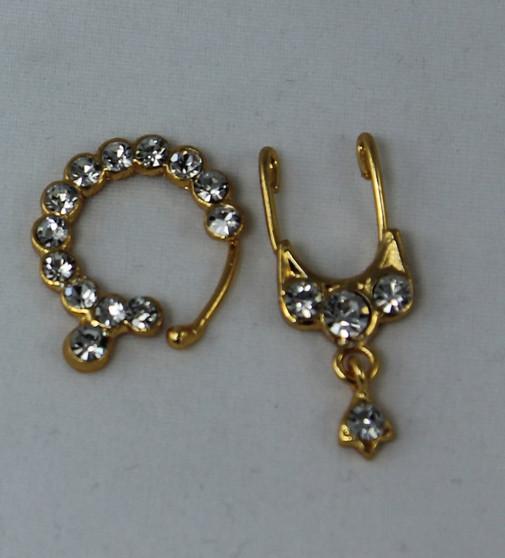 Stone jewellery nose stud Nath Bullaku