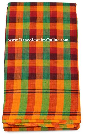 Bharatanatyam or Kuchipudi Dance Practice Saree Checked design