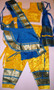 Bharatanatyam dance costume Pant style Readymade Yelllow and Blue