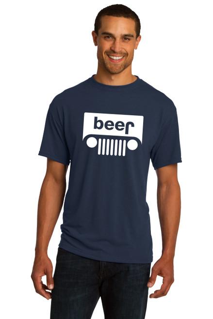 Beer Jeep 4X4 Renegade wrangler Cherokee Party T Shirt