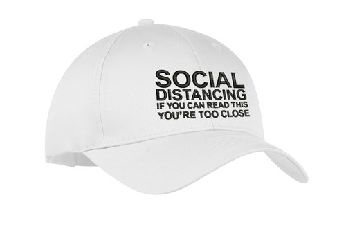 Social Distancing and Self-Quarantine Embroidered Hat