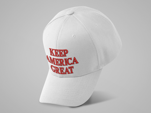 TRUMP KEEP AMERICA GREAT - 6 PANEL embroidered Hat/Cap