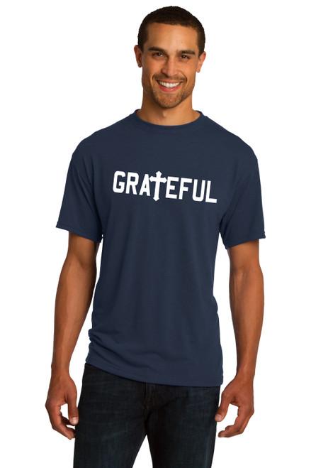 Grateful Religious  Jesus Cross Christian Tee Religion  Tee Shirt