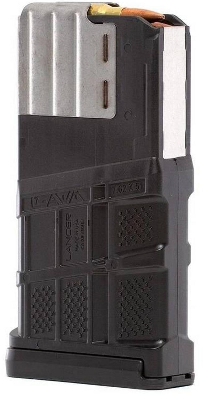 Lancer 20 Round .308 AR-10 Mag Black