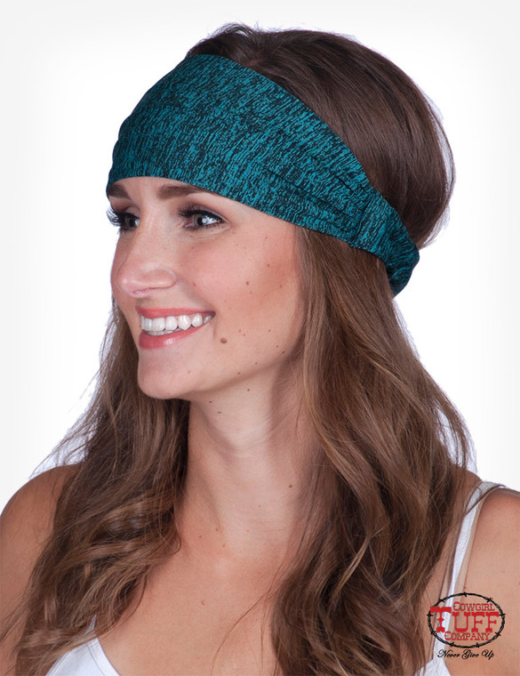 Turquoise lux athletic jersey headband